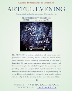 An Artful Evening: A Pop-Up Gallery, Performance, and Wine & Cheese @ University of British Columbia